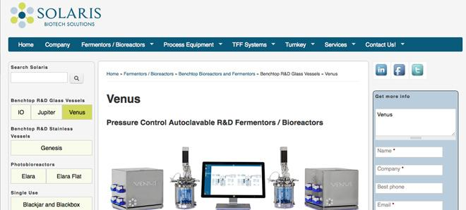Solaris Biotech - Fermentors, process equipment, TFF systems, and turnkey.