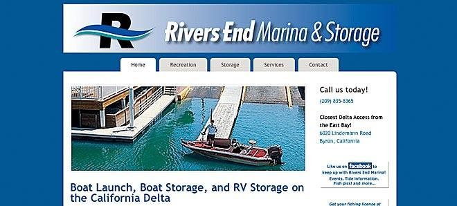 Rivers End Marina, boat launch and storage on the delta.