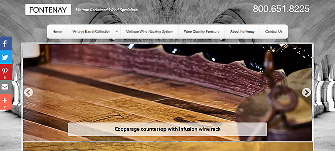 Fontenay Floors - Wine country inspired hardwood flooring, furniture, and wine racking systems.