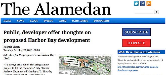 The Alamedan - Alameda Community News project with Michele Ellson