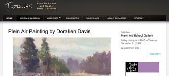 Dorallen Davis - Plein Air painter in Marin, California