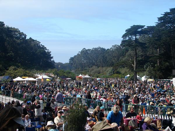 View from banjo stage at hardly strictly bluegrass festival